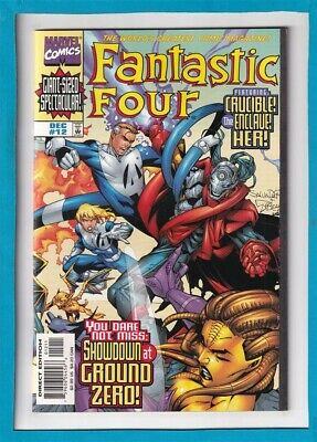 Fantastic Four #12_Dec 1998_Vf/Nm_The Thing_Human Torch_Wraparound Cover!