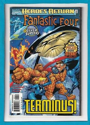 "Fantastic Four #4_April 1998_Nm Minus_Heroes Return_Silver Surfer_""Terminus""!"