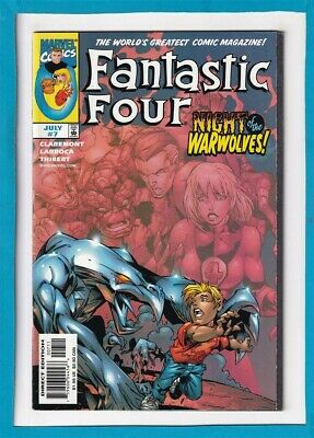 """Fantastic Four #7_July 1998_Near Mint Minus_The Thing_Human Torch_""""Warwolves""""!"""