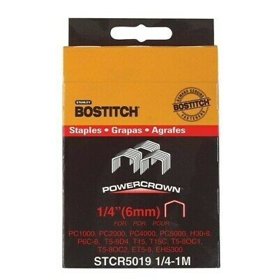 Stanley Bostitch  Power  Crown Staples  Gray  1/4 in. L
