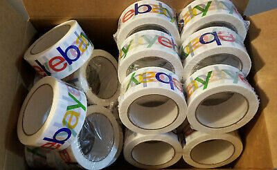 "20 Rolls 2"" x 75 yards Classic - Official eBay Branded Packaging Tape Multi-Pack"