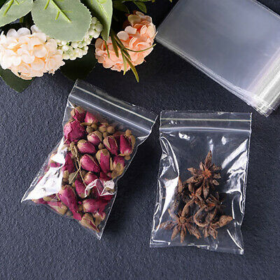 Food Storage Packaging Clear PE Reclosable Sealing Bag Jewelry