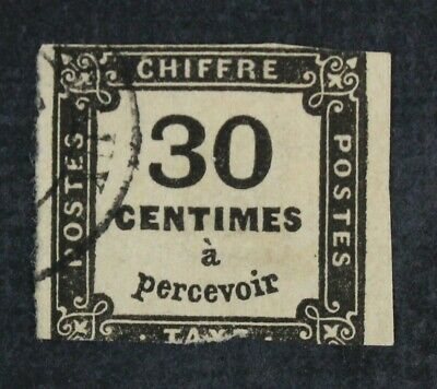 CKStamps: France Stamps Collection Scott#J7 Used Spot Thin