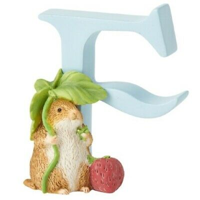 Beatrix Potter Peter Rabbit Timmy Willie Letter F Figurine A4998 New