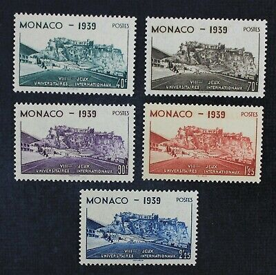 CKStamps: France Stamps Collection Monaco Scott#177-181 Mint LH OG