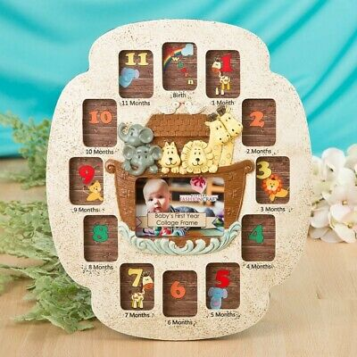 Noah's Ark Design Babys First Year Photo Collage Frame New