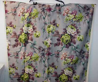 Vintage Floral Cotton Twill Or Barkcloth Panel