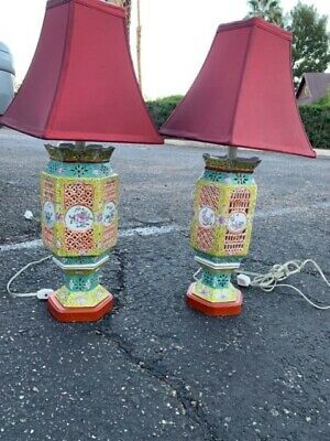 Pr of possibly late Ching lamps th