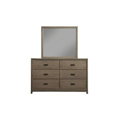 Alpine Camilla 6 Drawer Dresser Grey 6-drawer