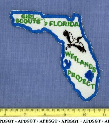 GIRL SCOUTS FLORIDA WETLANDS PROJECT Police Patch DNR STATE SHAPE DUCK LAKE