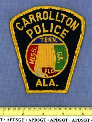CARROLLTON ALABAMA Sheriff Police Patch STATE SEAL