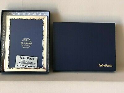 "NEW IN BOX BEAUTIFUL LARGE 8.5"" x 6.25"" HALLMARKED 925 SILVER PHOTO FRAME"