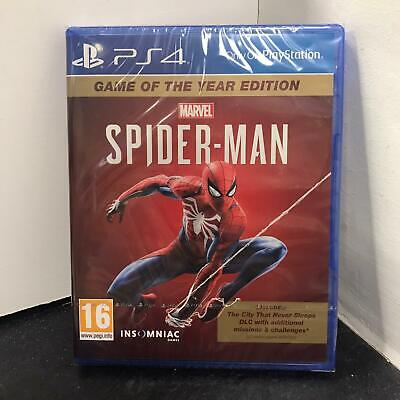 PS4 Marvel Spiderman + City That Never Sleeps DLC Game of Year Edition GOTY NEW