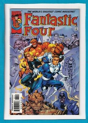 Fantastic Four #34_October 2000_Near Mint Minus_The Thing_Human Torch!