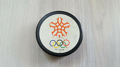 Eishockey Puck, Olympic Games 1988, Calgary, Made in Canada