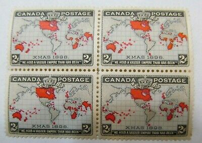 Canada Scott #86 1898 BLOCK 2c Imperial Penny Stamps Never Hinged