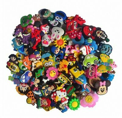50 Mixed PVC Shoe Charms Accessories Fit for Bracelets hoes Buckles Ormaments Ki
