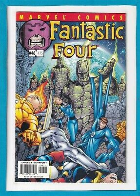Fantastic Four #46_Oct 2001_Very Fine+_The Thing_Human Torch_Silver Surfer_Nova!