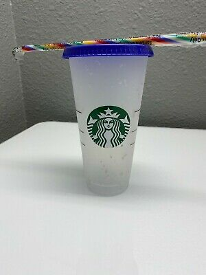 Starbucks Confetti Color Changing Cup  Rainbow Straw Pride Summer 2020 Reusable.