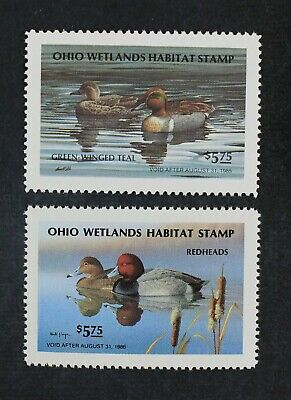 CKStamps: US State Duck Stamps Collection Ohio (2) Mint NH