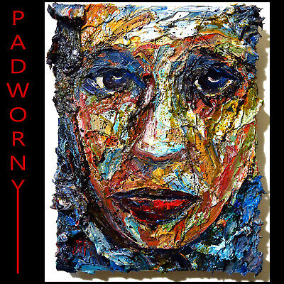 Modern Impressionist Art Girl Realist Oil Painting Abstract Portrait Female Deco