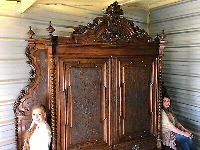 Rare French Hunt Cabinet, 18th Century. Largest Antique Cabinet On eBay