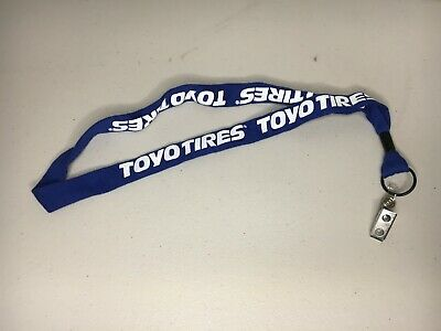 Toyo Tires Blue and White Work Office Lanyard For Holding Badge Keychain ring