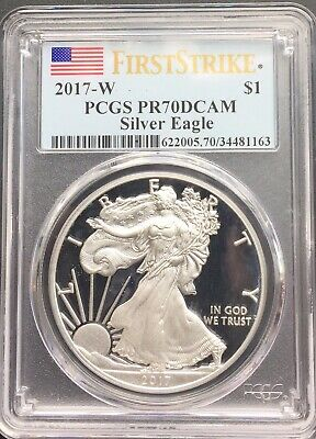 2017-W 1oz Silver American Eagle Dollar - PCGS PR 70 DCAM - First Strike