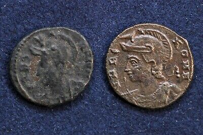 Constantine the Great Alexandria mint follis with she-wolf lot of 2 coins