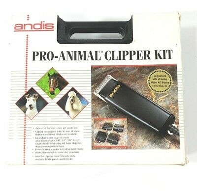 Andis Pro Animal Clipper Kit Mod. MBG Clipper Dog Trimmers Sheep Shears 4 Guards