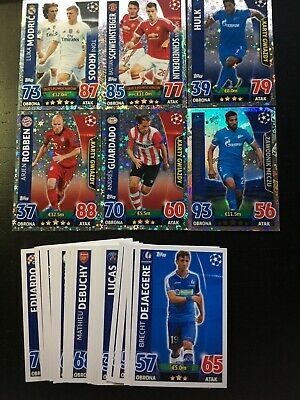 Match Attax Champions League 2015/2016 - 6 x SPECIALI + 29  CARD BASE