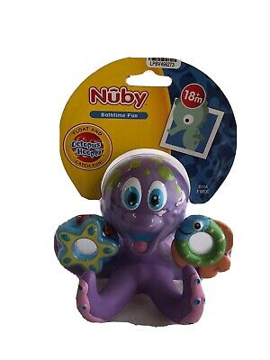 Nuby ~ Bathtime Octopus ~ Floating Bath Toy For Kids ~ BPA Free ~ NEW