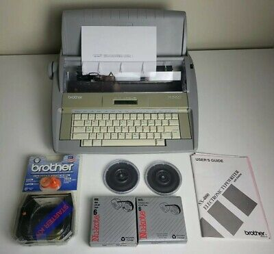 Brother SX-4000 Daisywheel Electronic Dictionary Typewriter Tested w/EXTRAS