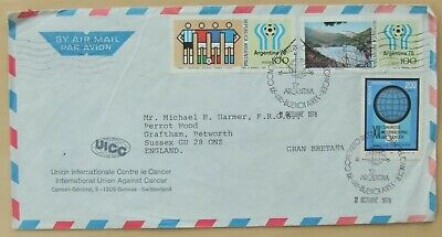 1978 Argentina air mail cover to England