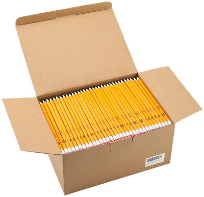 Wood-Cased #2 HB Pencils, Yellow, Pre-sharpened, Class Pack, 576 pencils in box
