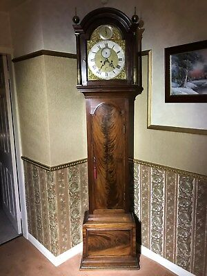 Mahogany Longcase Clock by Thomas Wagstaffe, London c1770.   Brass Weights etc.