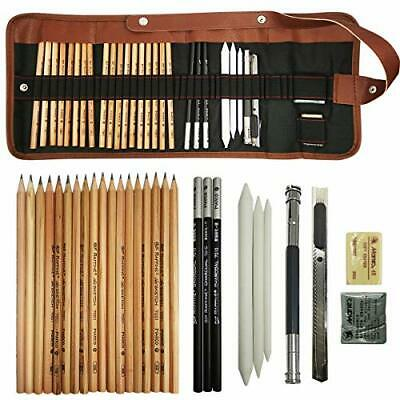 Cooja Sketch Drawing Pencil Set, Art Supplies Artist Sketching Kit Canvas Roll