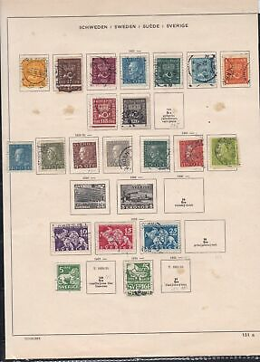 sweden stamps page ref 18164