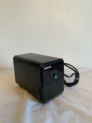 Boston Electric Pencil Sharpener Model 18 Black Made In USA Tested!