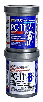 PC Products 11 Epoxy Adhesive Paste Two Part Marine Grade 1Lb In Cans Off WHITE