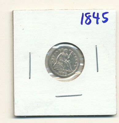 1845 half dime repunched date