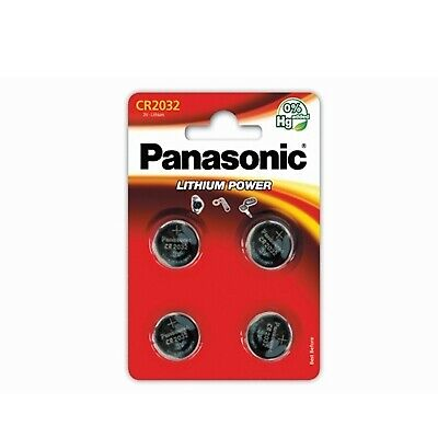 NEW! Panasonic Lithium Pack Of 4 Coin Cell Cr2032 Batteries