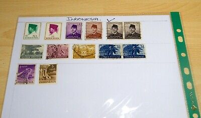 Lot of 13 Indonesia Stamps Used