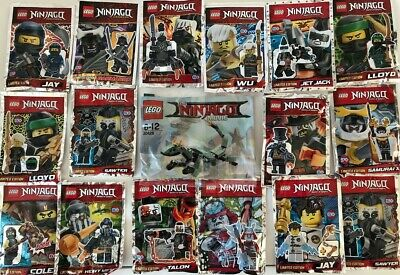 - Lucky Dip of 5 Packs Free Custom Sticker Lego Ninjago Polybags New