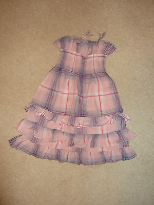 Baby Gap Pink Checked Cotton Sun Dress for 3 year old