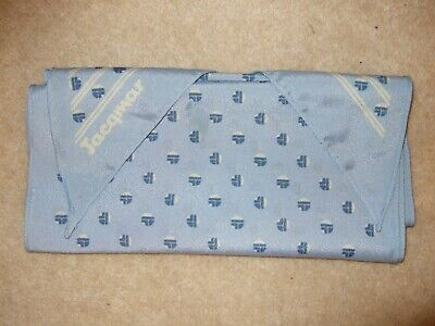 """Lovely Vintage Blue and White Coloured 100% Polyester Scarf by Jacqmar 60""""x 10"""""""