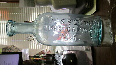 New York, N.Y. Dr. S.S. Fitch 114 Broadway Medicine Bottle BIMAL OPEN PONTILED