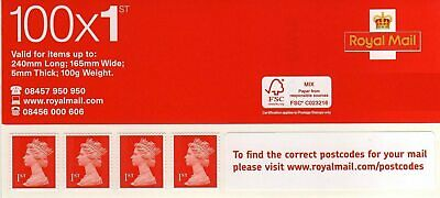 1st class Royal Mail stamp - Sheet of 100 stamps