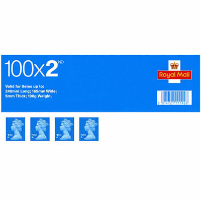 2nd class Royal Mail stamp - Sheet of 100 stamps
