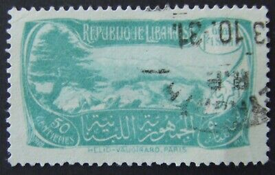 Lebanese Fiscal stamp with postmark 1931